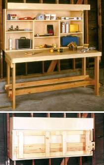 Space Saver Workbench Plan